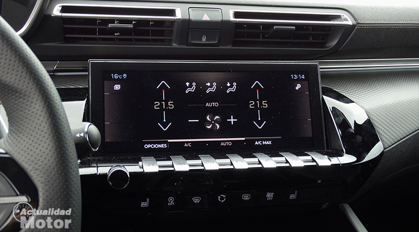Test Peugeot 508 main touch screen