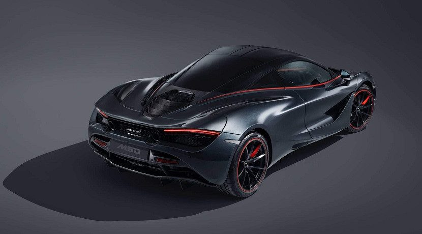 Rear of the McLaren 720S Stealth MSO